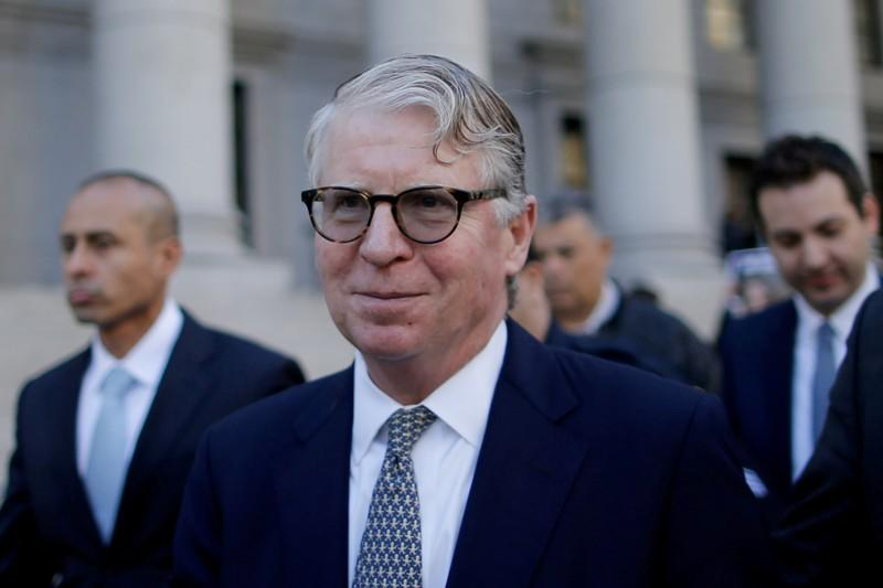 FILE PHOTO: Manhattan District Attorney Cyrus R. Vance Jr. leaves a hearing in U.S. President Donald Trump's tax case in the Manhattan borough of New York City