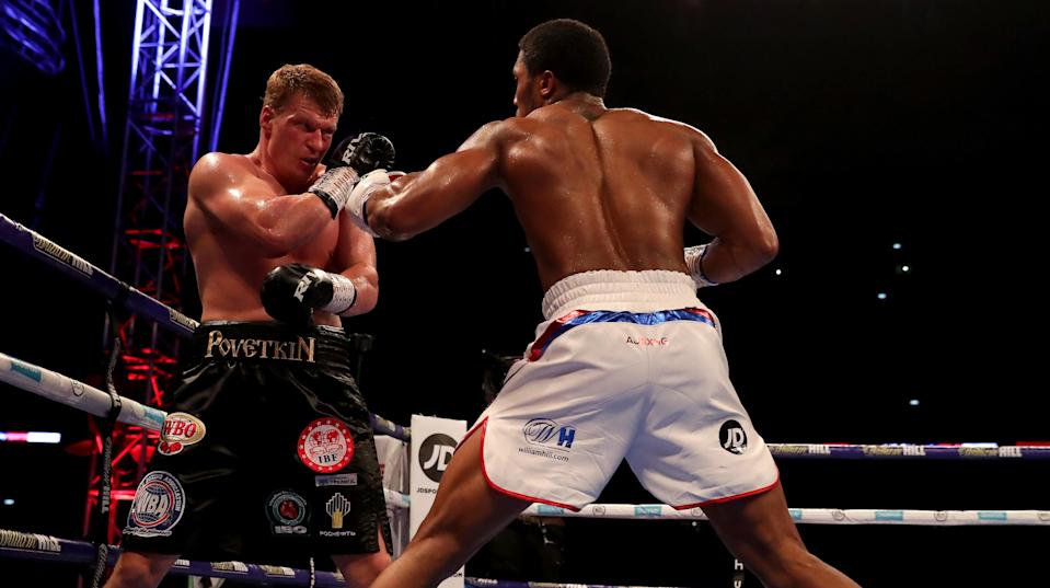 JD sponsors British heavyweight boxer Anthony Joshua. Photo: Richard Heathcote/Getty Images