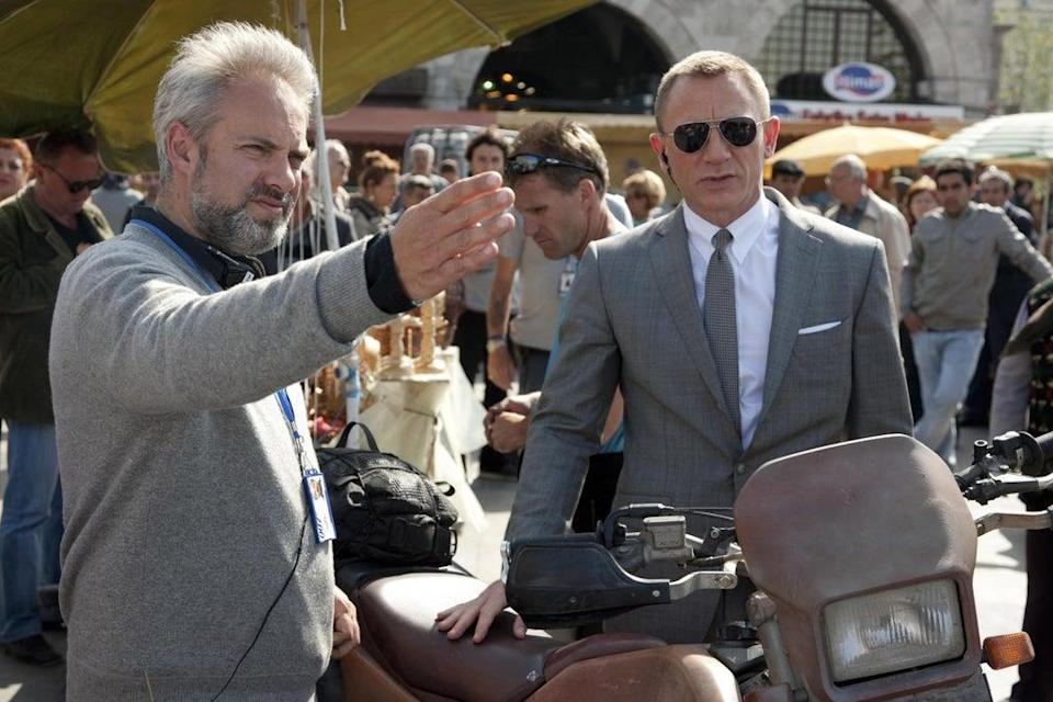 Sam Mendes directing Daniel Craig in 'Skyfall' in 2012. He believed the enemy was 'repetition and laziness' in the Bond franchise (Danjaq/Eon Productions/Kobal/Shutterstock)