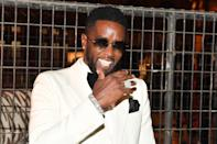 <p>Diddy cracks up on Wednesday night at the Black Tie Affair for Quality Control Music CEO Pierre Thomas at the Fox Theater in Atlanta. </p>