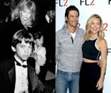 """<p><em>Then: </em>With mom Goldie Hawn in 1989</p><p><em>Now: </em><span class=""""redactor-invisible-space"""">At an event in New York</span></p>"""