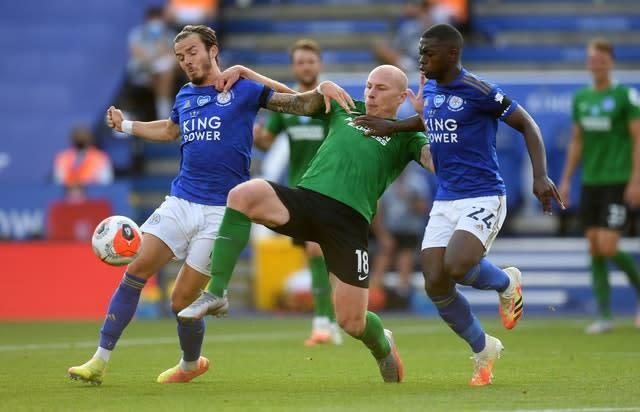 The Foxes played out a goalless draw with Brighton (Michael Regan/NMC Pool)