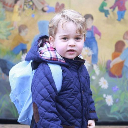 Prince George looked adorable on his first day of nursery school. Photo: Instagram