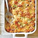 """<p><strong>Recipe: <a href=""""http://www.southernliving.com/recipes/cheesy-sausage-croissant-casserole-recipe"""" rel=""""nofollow noopener"""" target=""""_blank"""" data-ylk=""""slk:Cheesy Sausage-and-Croissant Casserole"""" class=""""link rapid-noclick-resp"""">Cheesy Sausage-and-Croissant Casserole</a></strong></p> <p>This recipe was designed to chill overnight for 8 hours, so it's make-ahead friendly. Just pop it in the oven when Mama is on her way over for brunch. <br></p>"""