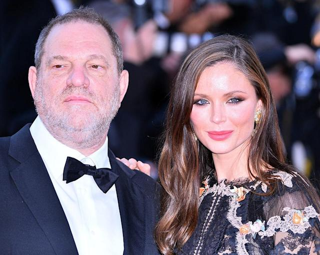 Harvey Weinstein and Georgina Chapman at the 68th International Film Festival in Cannes, France. (Photo by Mustafa Yalcin/Anadolu Agency/Getty Images)