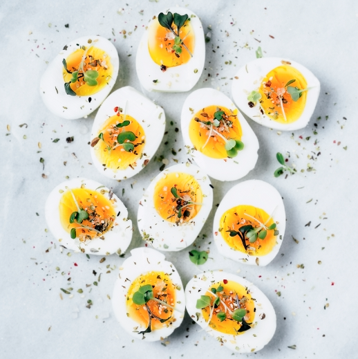 """<p>Loaded with bacon and Swiss cheese, this fat-filled egg is perfect for any keto dieter. </p><p><em><a href=""""https://www.goodhousekeeping.com/food-recipes/easy/a29230827/keto-bacon-cheese-deviled-eggs-recipe/"""" rel=""""nofollow noopener"""" target=""""_blank"""" data-ylk=""""slk:Get the recipe for Keto-Friendly Bacon-Cheese Deviled Eggs »"""" class=""""link rapid-noclick-resp""""><em><em>Get the recipe for Keto-Friendly Bacon-Cheese Deviled Eggs <em><em>»</em></em></em></em></a></em><br></p>"""