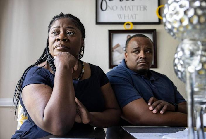 Melanie Savage, left, and her husband, DaJuan Savage's dream vacation in Hawaii turned nightmare. 'My heart is so broken.' Melanie Savage said. The couple are at home in Charlotte on Friday, June 11, 2021.