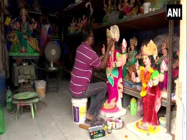 Idol makers are worried for their business during upcoming festivities. (Photo/ANI)