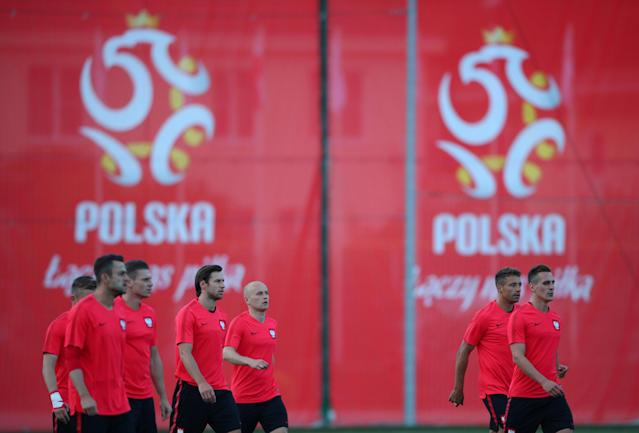 Soccer Football - World Cup - Poland Training - Sputnik Stadium, Sochi, Russia - June 13, 2018 General view during training REUTERS/Hannah McKay