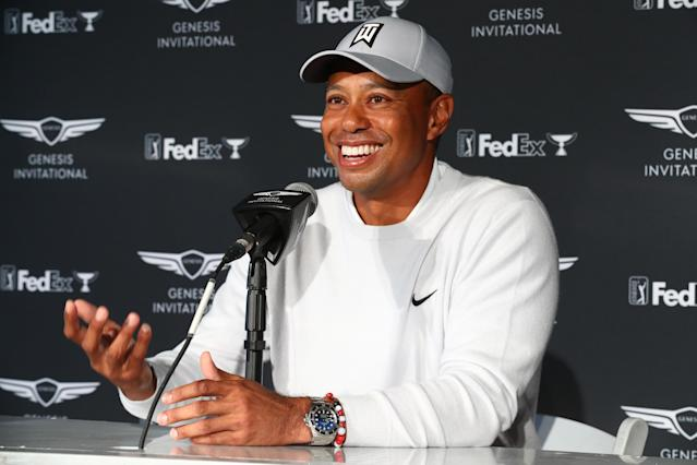 Like many other top players in the world, Tiger Woods has been approached about joining the Premier Golf League. (Joe Scarnici/Getty Images)