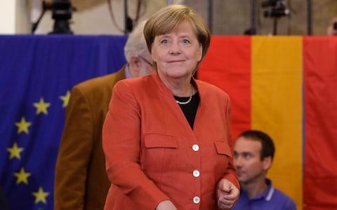 German Chancellor Angela Merkel  - Credit: AP