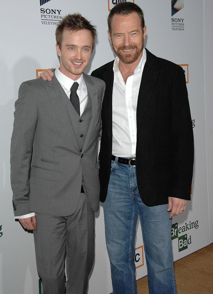 The critically acclaimed show <em>Breaking Bad</em> may have <em>meth</em>odically brought Cranston and Paul together, but their onscreen-turned-offscreen chemistry bonded the two to create the makings of a very long and loving friendship.  Here are the two stars at the 2008 premiere of AMC's <em>Breaking Bad</em>, which went on to earn a staggering 58 Emmy nominations, of which the show won 16.