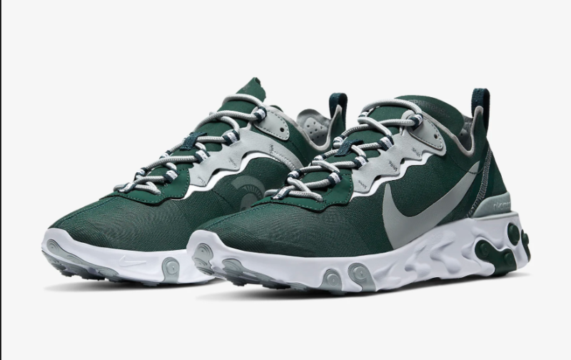 Michigan State Spartans React Element 55 Sneakers