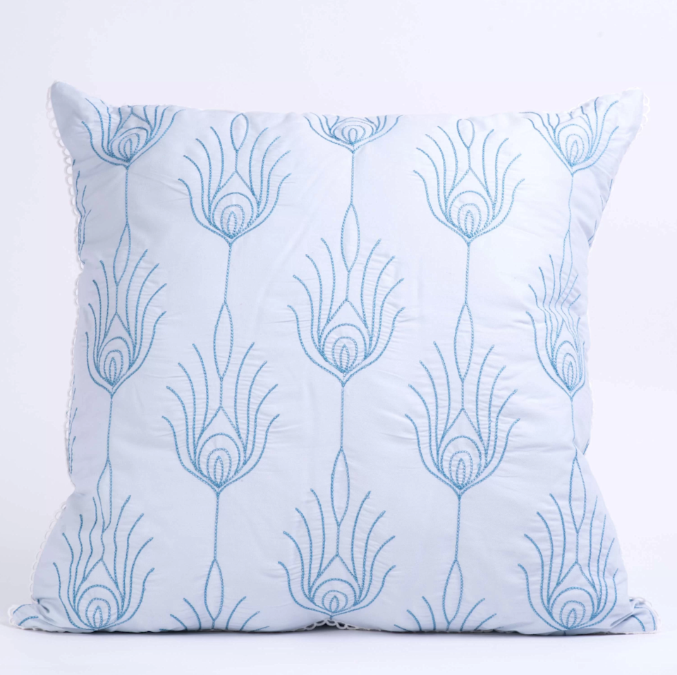"""<strong>Style Says: """"I Dabble In Healing Crystals & Horoscopes""""</strong><br>Let guests know that you're mystic but also simplistic with this luminous, monochromatic-embroidered accent pillow.<br><br><strong>Bungalow Rose</strong> Hartshorne Cotton Throw Pillow, $, available at <a href=""""https://go.skimresources.com/?id=30283X879131&url=https%3A%2F%2Fwww.wayfair.com%2Fdecor-pillows%2Fpdp%2Fbungalow-rose-manford-100-cotton-lumbar-pillow-bgls6821.html"""" rel=""""nofollow noopener"""" target=""""_blank"""" data-ylk=""""slk:Wayfair"""" class=""""link rapid-noclick-resp"""">Wayfair</a>"""