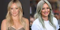 "<p>Hilary is known almost as much for her blonde hair as her <a href=""https://www.cosmopolitan.com/entertainment/tv/a29834981/hilary-duff-lizzie-mcguire-bangs-instagram/"" rel=""nofollow noopener"" target=""_blank"" data-ylk=""slk:bangs circa her Lizzie McGuire"" class=""link rapid-noclick-resp"">bangs circa her Lizzie McGuire</a> days. So, understandably, she was in the mood to ~experiment~ with a muted blueish gray color after her divorce from Mike Comrie. </p>"