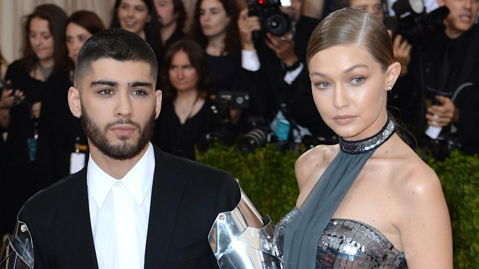 Zayn Malik and Gigi Hadid attending The Metropolitan Museum of Art Met Gala in 2016 (Doug Peters/EMPICS Entertainment)