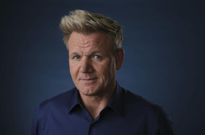 Gordon Ramsay is offering 'bottomless pizza' to those getting their A-level results. (Invision/AP)