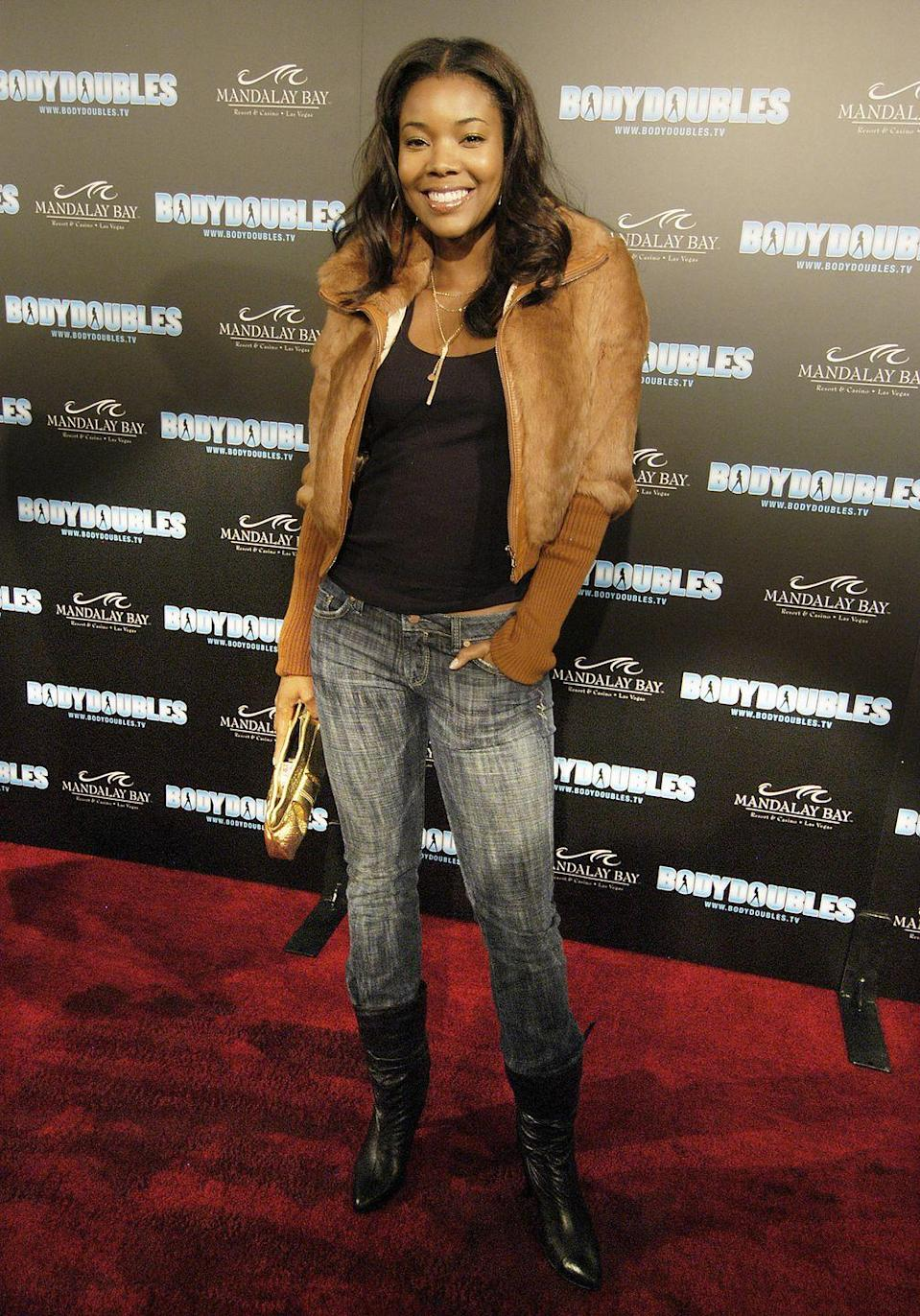 <p>Many celebs—like Gabrielle Union, seen here—paired these slouchy-yet-refined boots with low-cut pants.</p>