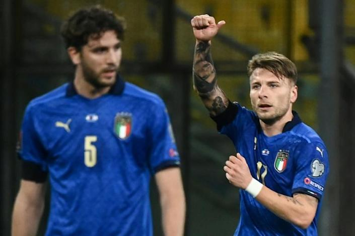 Ciro Immobile scored Italy's second in a routine win over Northern Ireland