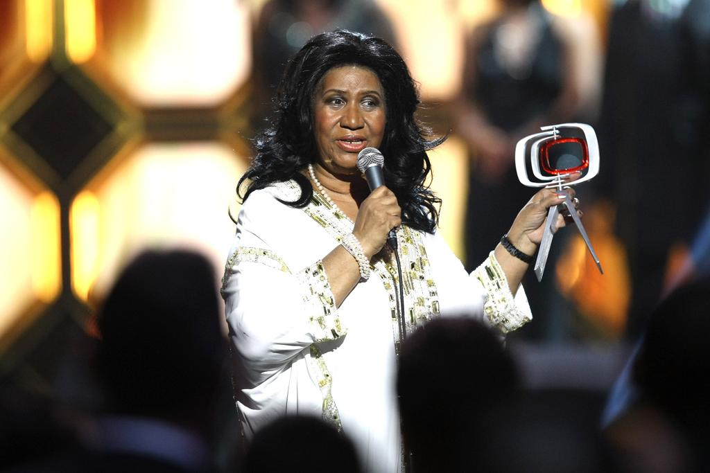 Aretha Franklin at the 10th Annual TV Land Awards at the Lexington Avenue Armory on April 14, 2012 in New York City.
