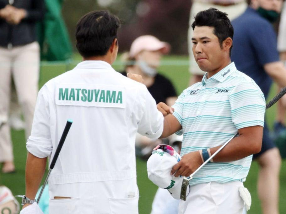 <p>Hideki Matsuyama takes a four-shot lead into the final day</p> (Getty)