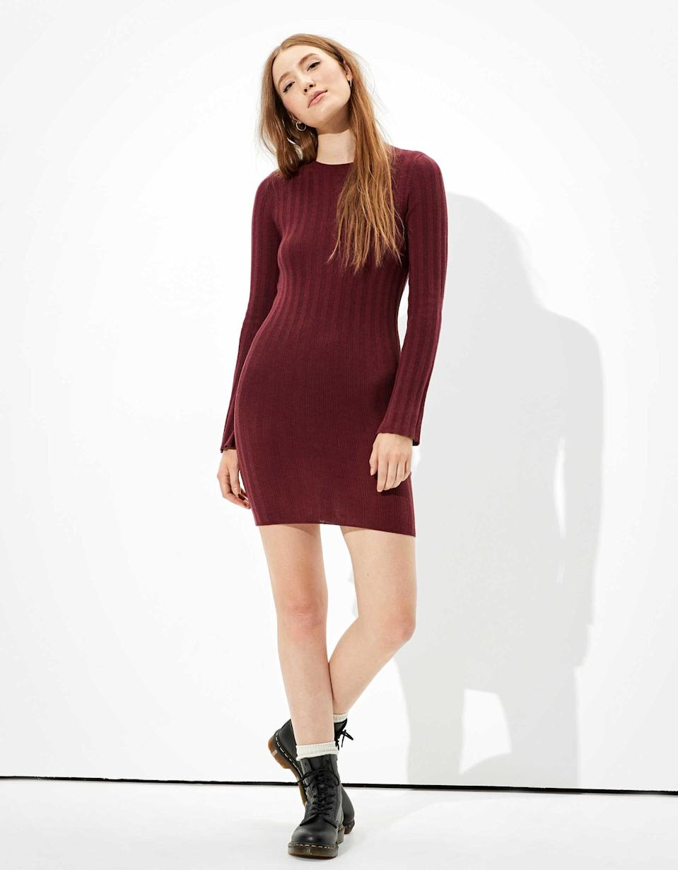 <p>You can't go wrong with this <span>AE Bodycon Sweater Dress</span> ($37, originally $50).</p>