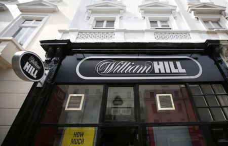 A William Hill bookmaker store is seen in London