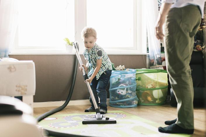 """<p>Let's be real: If you actually want to celebrate mom this year, you'll take something off her never-ending to-do list. </p><p>Prior to the pandemic — even though more moms were working outside the home than ever before — <a href=""""https://www.cnbc.com/2015/04/28/me-is-like-leave-it-to-beaver.html"""" rel=""""nofollow noopener"""" target=""""_blank"""" data-ylk=""""slk:moms still shouldered the majority of household and parenting responsibilities"""" class=""""link rapid-noclick-resp"""">moms still shouldered the majority of household and parenting responsibilities</a>. And as a result of the pandemic, <a href=""""https://www.cbsnews.com/news/covid-crisis-3-million-women-labor-force/"""" rel=""""nofollow noopener"""" target=""""_blank"""" data-ylk=""""slk:nearly 3 million women have been pushed out of the workforce"""" class=""""link rapid-noclick-resp"""">nearly 3 million women have been pushed out of the workforce</a> due, in no small part, to existing inequities inside the home.<br></p><p>A great Mother's Day quarantine activity is simply cleaning, cooking, doing laundry, and handling any of the chores Mom usually takes on herself. Even better? Continue doing the work that helps the home run after Mother's Day ends.</p>"""