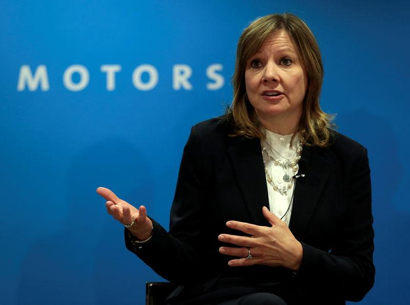 FILE PHOTO: GM CEO Barra speaks at press conference at the North American International Auto Show in Detroit