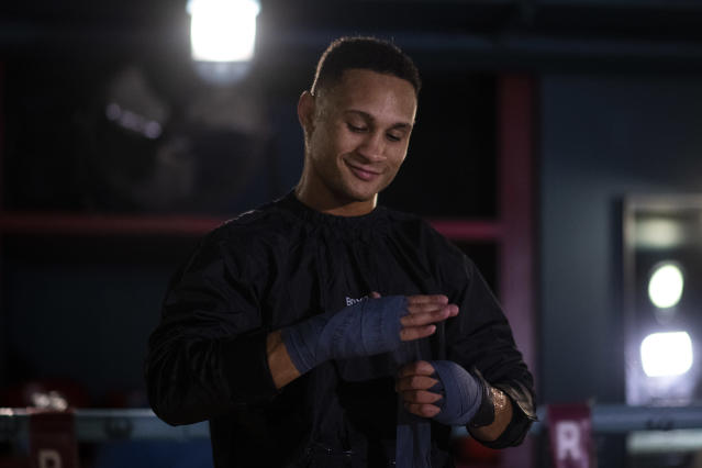 Regis Prograis during a Media Workout at Rathbone Boxing Club on Oct. 17, 2019 in London, England. (Justin Setterfield/Getty Images)