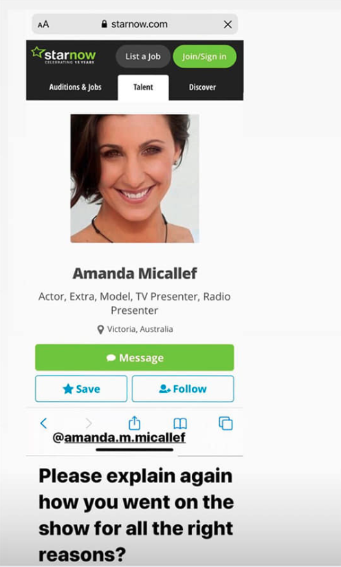 Amanda Micallef's acting profile