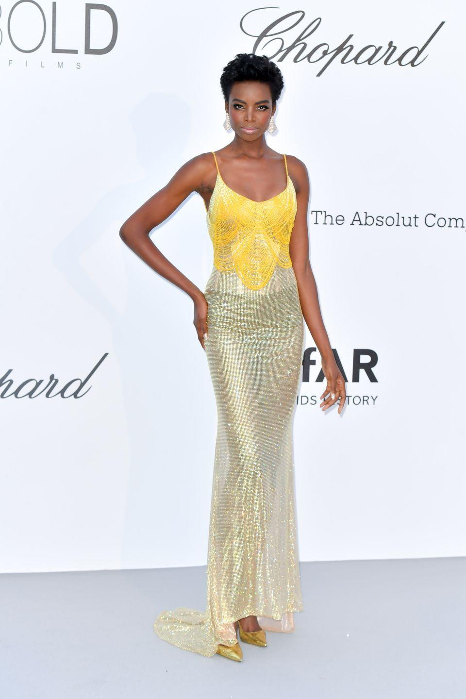 <p>Model <strong>Maria Borges</strong> is known for rocking her teeny weeny afro, and she switched it up with a short blowout look. So chic! </p>