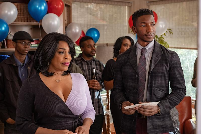 """Niecy Nash and Mamoudou Athie in """"Uncorked."""" (Nina Robinson/Netflix)"""