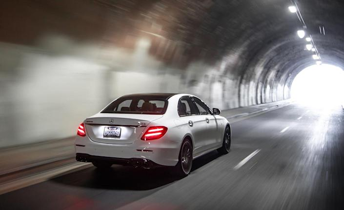 <p>Benzo-philes will likely pick up on subtle E53 exterior distinctions such as the chrome twin-blade diamond radiator grille, AMG-specific side-sill panels, and the black flics on the chrome front splitter and outer air intake fins. </p>