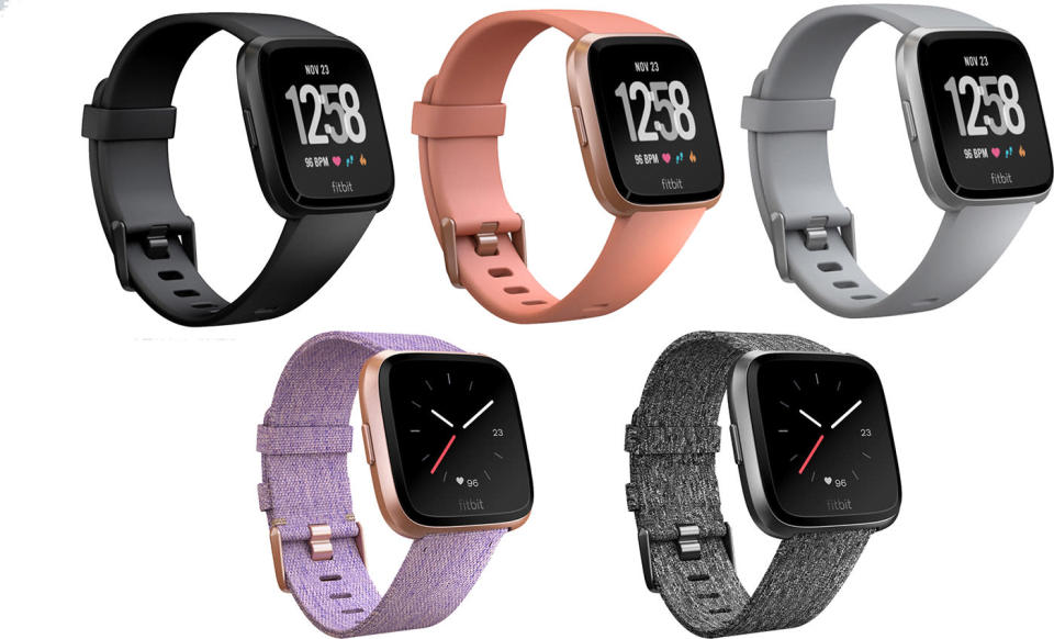 The Fitbit Versa falls exactly halfway between fitness wristbands and full-blown wrist computers like the Apple Watch.