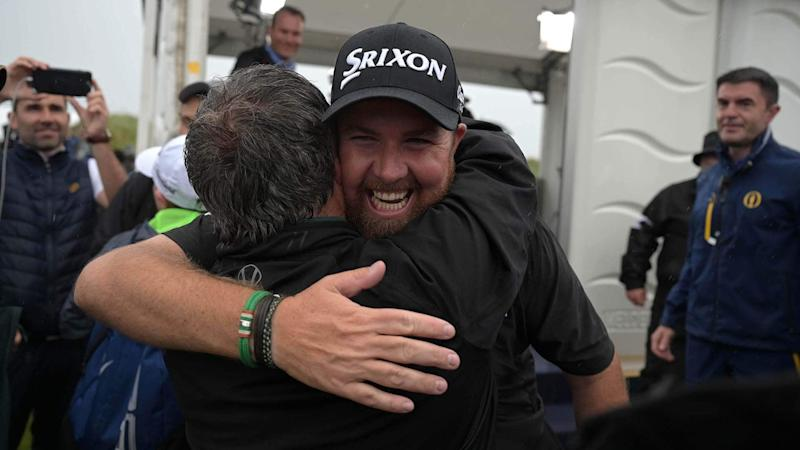 Social reaction: Players congratulate Open champion Lowry