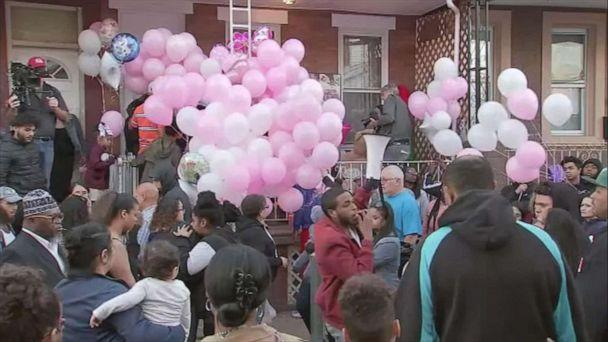 PHOTO: People gather during a vigil on Oct. 21, 2019, for a two-year old girl who was killed in Philadelphia over the weekend. (WPVI)