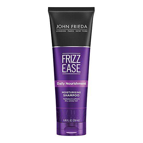"""<p><strong>John Frieda</strong></p><p>amazon.com</p><p><strong>$6.97</strong></p><p><a href=""""https://www.amazon.com/dp/B01N4BCC4V?tag=syn-yahoo-20&ascsubtag=%5Bartid%7C10055.g.32715498%5Bsrc%7Cyahoo-us"""" rel=""""nofollow noopener"""" target=""""_blank"""" data-ylk=""""slk:Shop Now"""" class=""""link rapid-noclick-resp"""">Shop Now</a></p><p>From the brand famous for fighting frizz, this John Frieda shampoo softened and smoothed strands so well in GH Beauty Lab testing that testers were tempted to skip conditioner. """"<strong><strong>This really works — it's helped greatly with my frizz issue in 99% humidity</strong></strong>,"""" one tester marveled. Another agreed her hair was """"much less frizzy"""". </p>"""