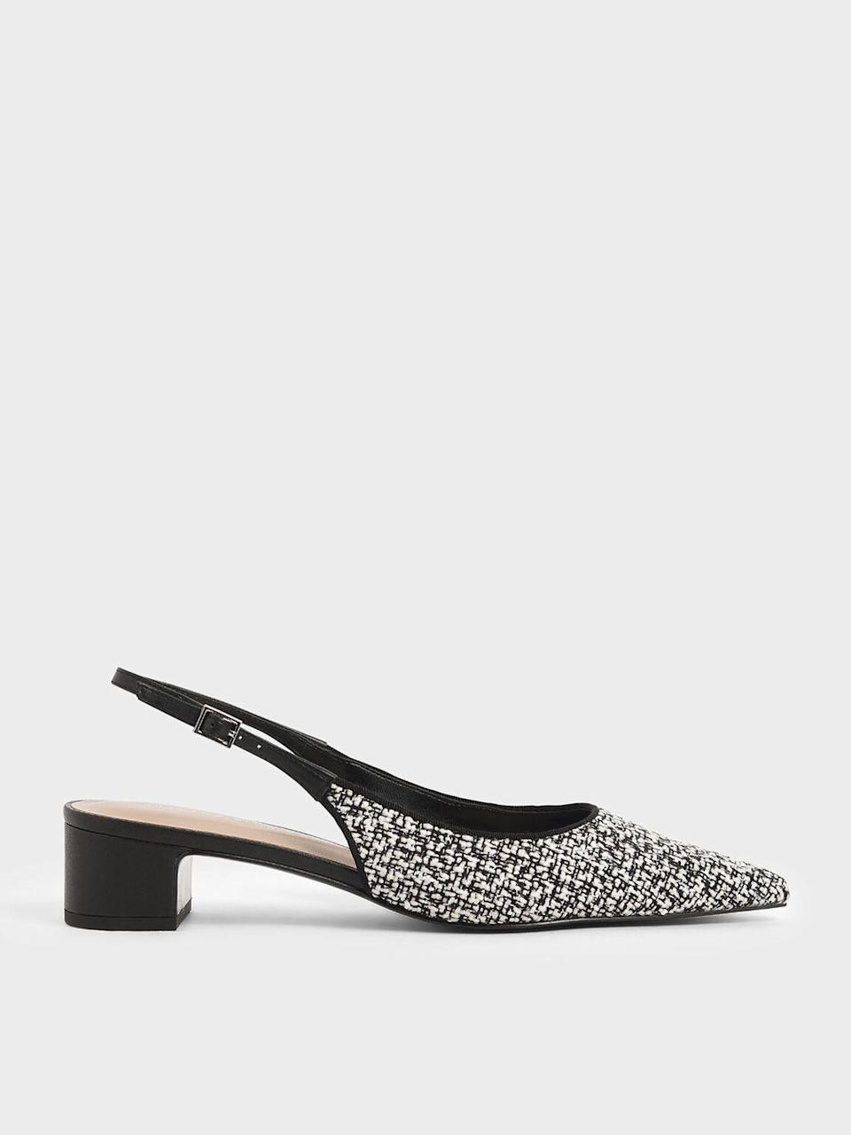 """<p><strong>Charles & Keith</strong></p><p>charleskeith.com</p><p><strong>$46.00</strong></p><p><a href=""""https://go.redirectingat.com?id=74968X1596630&url=https%3A%2F%2Fwww.charleskeith.com%2Fus%2FCK1-60920172_MULTI.html&sref=https%3A%2F%2Fwww.cosmopolitan.com%2Fstyle-beauty%2Ffashion%2Fg35017315%2F2021-shoe-trends%2F"""" rel=""""nofollow noopener"""" target=""""_blank"""" data-ylk=""""slk:Shop Now"""" class=""""link rapid-noclick-resp"""">Shop Now</a></p><p>A block shape will make you forget you're even wearing heels. </p>"""