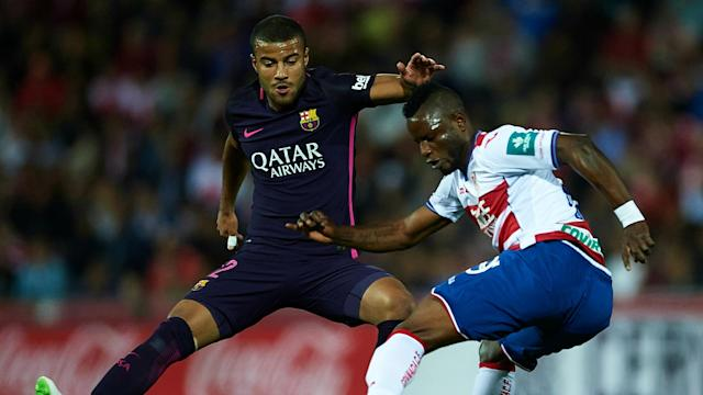 The Brazilian came off in the first half of the Blaugrana's victory over Granada with a knee issue and will undergo further tests.