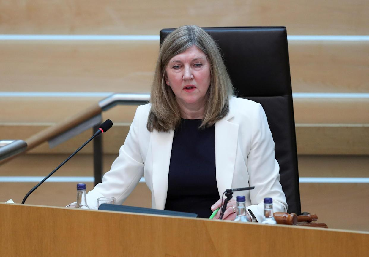 Presiding Officer Alison Johnstone said MSPs were 'honoured' that the Queen would be at the opening ceremony (Russell Cheyne/PA)