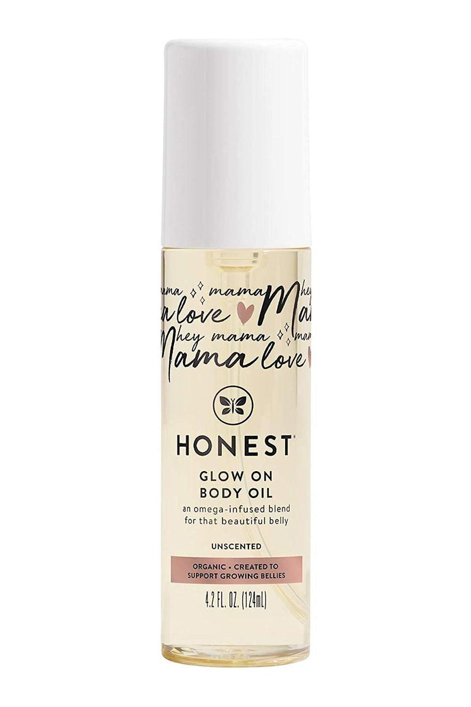 "<p><strong>The Honest Company</strong></p><p>amazon.com</p><p><strong>$17.99</strong></p><p><a href=""https://www.amazon.com/dp/B08PY537DK?tag=syn-yahoo-20&ascsubtag=%5Bartid%7C10072.g.26787035%5Bsrc%7Cyahoo-us"" rel=""nofollow noopener"" target=""_blank"" data-ylk=""slk:Shop Now"" class=""link rapid-noclick-resp"">Shop Now</a></p><p>Just because she doesn't have time for an intensive beauty routine, doesn't mean she doesn't want smooth, soft, and glowing skin. This brilliant body oil is formulated with a mighty mix of moisturizing avocado, coconut, and jojoba seed oils—not to mention that it takes just seconds to apply.<br></p>"