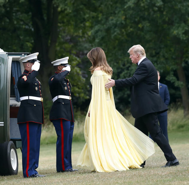 President Trump and first lady Melania Trump. (Photo: AP/Pablo Martinez Monsivais)