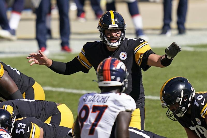 Pittsburgh Steelers quarterback Ben Roethlisberger calls out a play during a win over the Denver Broncos on Sept. 20.