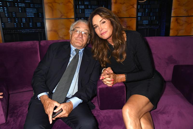 Robert De Niro poses with Caitlyn Jenner at the Comedy Central Roast of Alec Baldwin. (Photo: Jeff Kravitz/FilmMagic)