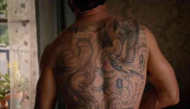 7eabc41a0 The Photo Of (And Meaning Behind) Justin Theroux's Gigantic Back Tattoo