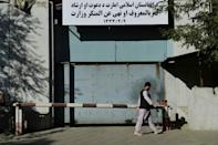 The Taliban have replaced the ministry of women's affairs with the Ministry for the Promotion of Virtue and Prevention of Vice (AFP/Hoshang Hashimi)