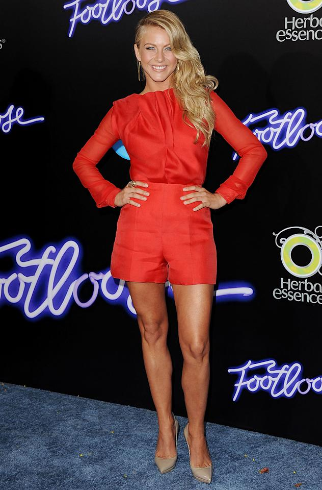 "<a href=""http://movies.yahoo.com/movie/contributor/1809860021"">Julianne Hough</a> at the Los Angeles premiere of <a href=""http://movies.yahoo.com/movie/1810164562/info"">Footloose</a> on October 3, 2011."