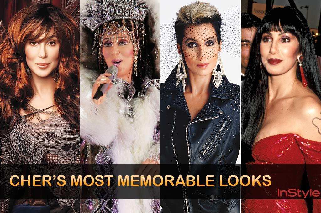 "No one makes bolder fashion statements -- or sets styles -- quite like Cher. Lady Gaga? Please. In the '60s the raven-haired half of Sonny and Cher rocked bangs, black eyeliner, bell-bottoms, and bobcat vests, launching the hippie look with cool California style. A decade later she took TV by storm in a variety series that showcased her mannequin-thin silhouette in bare-bellied, bugle-beaded Bob Mackie confections. The '80s and '90s saw Cher in leather jackets, leotards, and fishnets; at the Oscars she dazzled in Mackie ensembles she says are ""works of art as beautifully constructed on the inside as they are on the outside."""