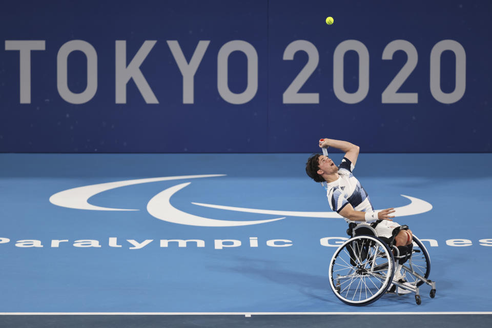 Reid, 29, will take on French duo Stephane Houdet and Nicolas Peife alongside partner Alfie Hewett in a repeat of the Rio 2016 final